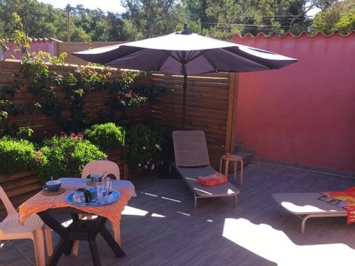 Terrasse villa corse kumquat